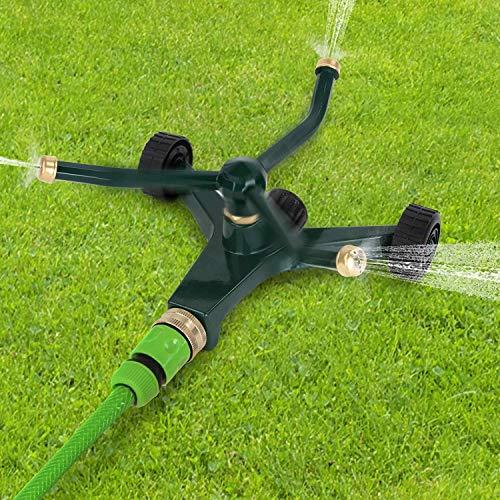 Rasensprenger Große Flächen | Garten Sprinkler System mit 3 Düsen, 20x19x10 cm, von Rasen und Gärten | Gartensprenger, Rasen Sprinkler, Bewässerung