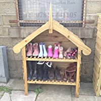 Wellington boot store, welly shoe boot rack, boot storage, outdoor stores, 2 shelves