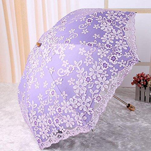 GTWP GT Umbrella Manual Fashion 3-Folding Umbrella Creative Rain Umbrella Sturdy Windproof Anti-UV Sunscreen Umbrella