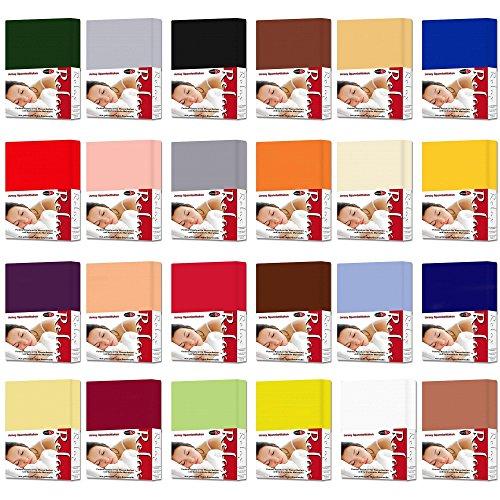 Spannbetttuch für Wasser- und Boxspringbetten | 24 moderne Farben 3 Größen | 100% Mako-Baumwolle | 140 x 200 - 160 x 220 cm | Spannbettlaken in Jersey Qualität | CelinaTex 0001924 Relax | weiß -