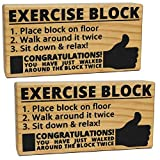 (Set/2) Exercise Block Joke Gag Gift For...