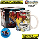 Thundercats mug with free keyring - Lion O classic 80s gift for him or her