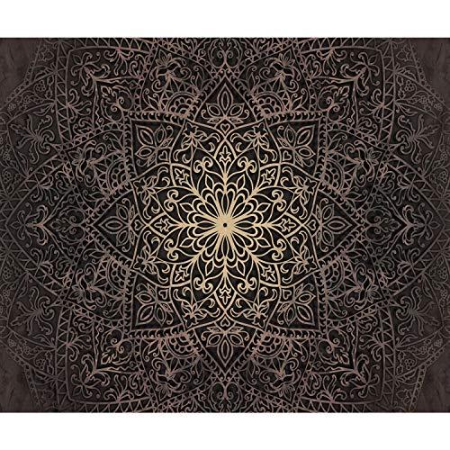 decomonkey | Fototapete Mandala 400x280 cm XL | Tapete | Wandbild | Wandbild | Bild | Fototapeten | Tapeten | Wandtapete | Wanddeko | Wandtapete | Orient Muster Ornament schwarz braun
