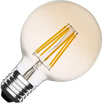 Bombilla LED E27 Regulable Filamento Gold Planet G95 6W efectoLED