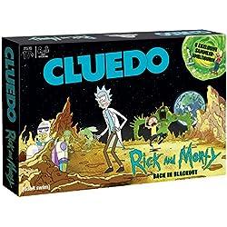 Winning Moves 11422Cluedo BELIFLOR ebteste Detective Parte del Mundo se reúnen en Caracteres Trick Mundo Colorido de Científicos Rick y su Nietos Morty, (en alemán)