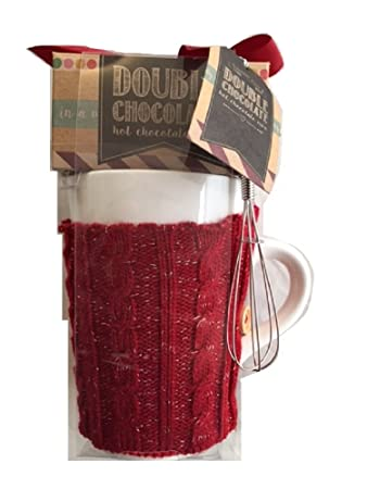 Hot Chocolate Gift Set with Hot Chocolate Mix Cosy Red Sweater and ...