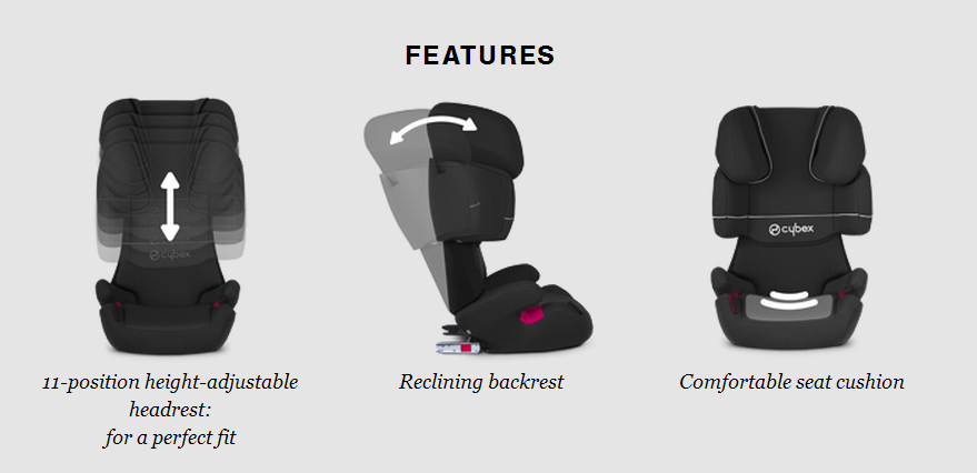 cybex solution x fix toddler car seat group 2 3 pure. Black Bedroom Furniture Sets. Home Design Ideas