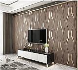 Yosot Moderne 3D Relief Kurven Streifen Tapete Tv Hintergrund Wohnzimmer Vliestapeten Braun