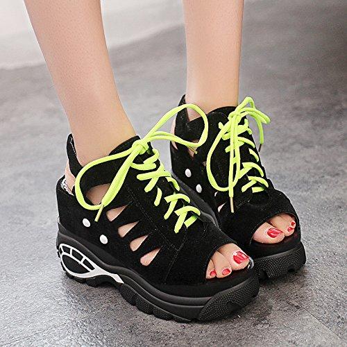 Zormey Fujin Marke Sandalen Frauen Freizeitaktivitäten Plateau Sandalen Neue 2017 Mode Ausschnitt Dicke Heels Wedges Sommer Schuhe Frau 6.5