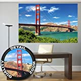 Poster Golden Gate Bridge Wandbild Dekoration Vereinigte Staaten Sehenswürdigkeiten San Francisco Kalifornien California | Wandposter Fotoposter Wanddeko Bild Wandgestaltung by GREAT ART (140 x 100cm)