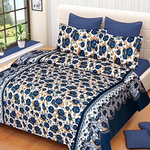 Super Modern 3D Luxury Printed 180TC Polycotton Double Bedsheet with 2 Pillow Covers