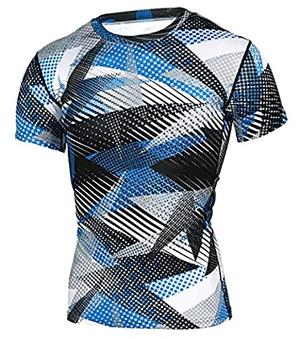 U-shot Men Short Sleeve Stretch Sports Fitness T-shirt Tops