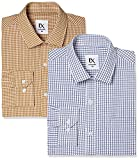 #9: EX by Excalibur Men's Solid Regular Fit Formal Shirt (Pack of 2)