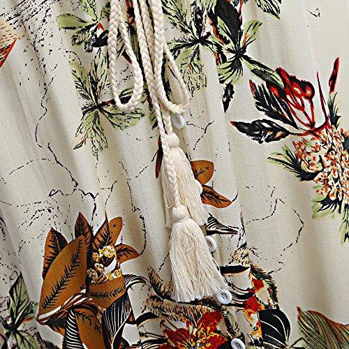 ASCHOEN - Robe - Manches Courtes - Femme Weiß