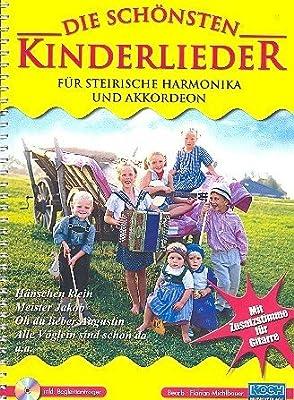 Die Schoensten Kinderlieder. Handharmonika, Akkordeon, Gitarre