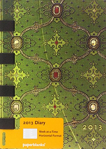 2013 French Ornate Vert Midi Week-at-a-time Horizontal Dayplanner (Paperblanks Diaries)