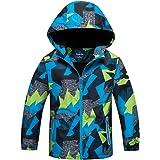 Amuse-MIUMIU Niños pequeños con capucha abrigo para niños al aire libre impermeable con capucha chaqueta para niños multicolo