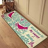 SUNFIRE geschnitten Brid Teppiche nicht gewebten Teppich Läufer waschbar Home Kitchen Dekoration Hellgrün 44x 115cm
