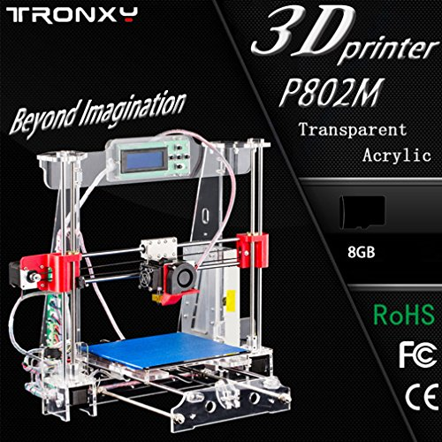 Sweepid 3D Drucker P802M Große Transparente Acryl LCD Bildschirm HD Display Unterstützung 8 G Secure Digital Speicherkarte EU Stecker (Bottom Motor Mount)