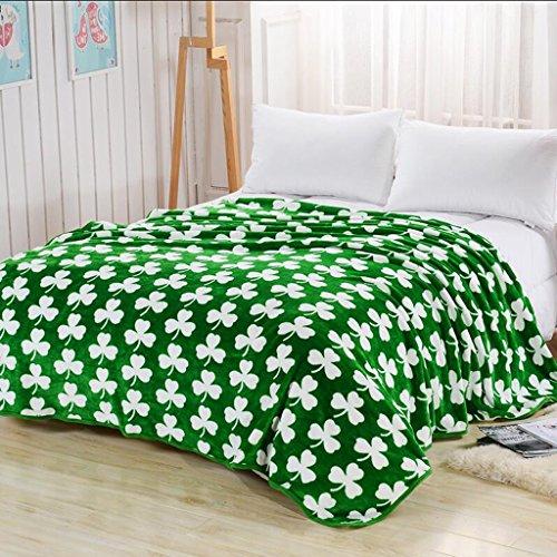 Rollsnownow Grünes Blatt Winter Verdickung Flanell Decke Nap Blätter Student Quilt ( größe : 120*200cm )