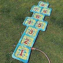 Garten Wasser Spiel Hinkelkasten Kinder Hüpfspiel mit Zahlen aufblasbar 178  x 60cm Neu