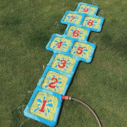 Preisvergleich Produktbild Garten Wasser Spiel Hinkelkasten Kinder Hüpfspiel mit Zahlen aufblasbar 178 x 60cm Neu