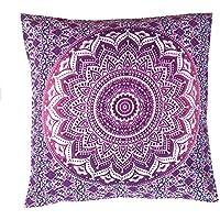 """Rastogi artesanías Multi uso funda de almohada fundas de almohada sofá caso funda sola mano bolck impreso elefante Mandala diseño 16""""x 16"""""""