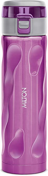 Milton Stylish-500 Thermosteel Water Bottle, 500 ml, Purple