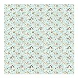 Mustertapete für Kinderzimmer - Kindermuster Forest Friends mit Waldtieren - Vliestapete Quadrat, Größe HxB: 288cm x 288cm