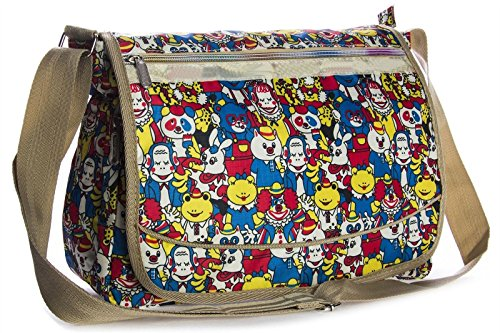 Big Handbag Shop ,  Unisex-Erwachsene Tasche Messenger 825 - Circus Jokers