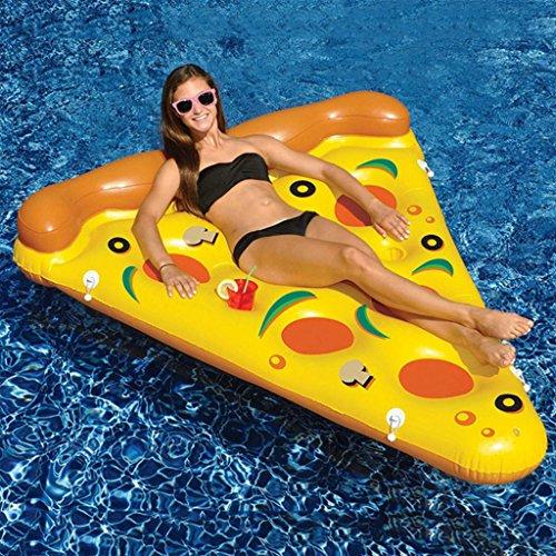 CHENGYI Schwimmendes Bett, Sommer-Strand-PVC-Wasser-Schwimmen-aufblasbare Pizza-sich hin- und herbewegende Reihen-erwachsene Kinder-Wasser-Strand-Berg-Spielzeug