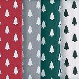 Textiles français Stoffpak Árboles de Navidad - Set de telas - 4 telas | 100% algodón | cada pieza 40 cm x 50 cm