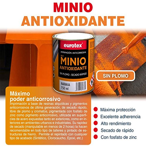 Antioxidant minium without lead is a last generation anticorrosive primer, ideal as a first hand on iron. - 750 ml -