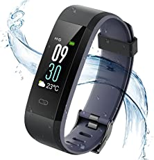 Vigorun Fitness Tracker Cardiofrequenzimetro, Bluetooth IP68 Impermeabile