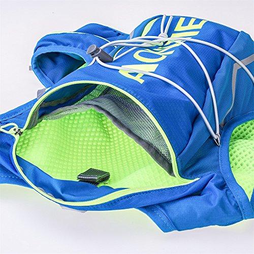 AONIJIE 10L leggero impermeabile Zaino Zaino da corsa cross-country Marathon Ciclismo borse da Running gilet bollitore borsa sportiva + 2L idratazione acqua borsa (Blu-L/XL) Blu-M/L