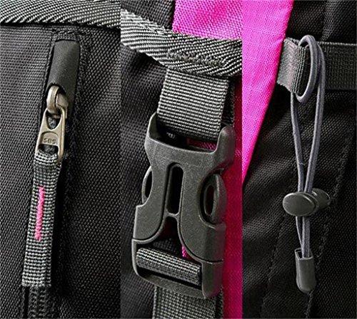 Sacchetti esterni di alpinismo impermeabile borsa a tracolla multifunzionale borsa zaino 60 + 10L pioggia ( Colore : Giallo , dimensioni : 60+10L ) Rose red