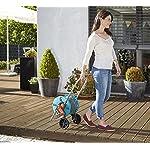 GARDENA CleverRoll S Set: Schlauchwagen mit 20 m Classic-Schlauch und Spritze, Nachtropfstopp, Kurbelseite frei wählbar…