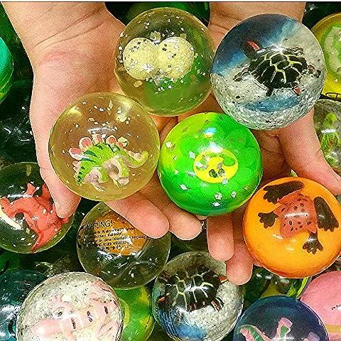 German Trendseller® - 6 x Große Springbälle - Figuren Mix ★ NEU ★ ┃ ++ Gratis Figur In jedem Ball ++ ┃ Kindergeburtstags Mitgebsel Mix ┃ SUPER Sprungkraft ✔ ┃ 6 Stück