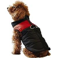 ubest Hundemantel wasserdichte Winterjacke mit D-Ring Warm Regenmantel gepolstert Puffer Weste, 5 Farbe und 8 Größe
