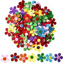 Sumind 100 Piezas Flores de Fieltro Adornos de Flores de Tela para Manualidades, Colores Variados