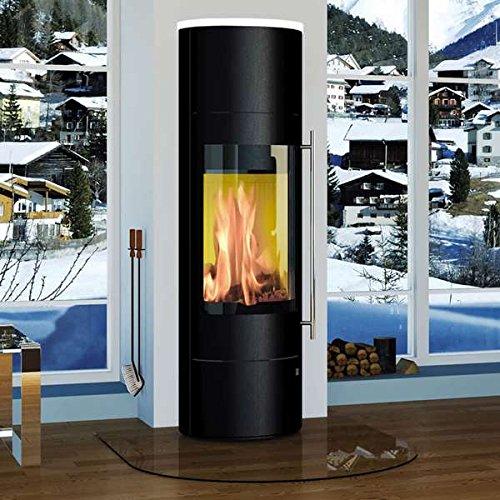 Olsberg Kaminofen PALENA Powerbloc Compact 5 kW Ofen Palena-Stahl-Schwarz-Abdeckplatte Schneeweiß-5kW###Nein