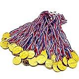 Prix Médailles,Médailles du gagnant en Plastique Récompenses d'or en Plastique pour la Fête du Sport pour Enfants Récompense du Concours du Thème Olympique...