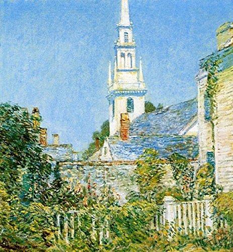 Newport Wand Hängen (Das Museum Outlet-White Church at Newport (Aka Kirche in einem New England Village), 1901-Poster (mittel))