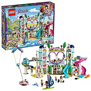 LEGO 41347 Friends Heartlake City Resort Playset, Stephanie Andrea Olivia and Mason Mini Dolls, Resort Hotel with Monorail and Beach Water Park
