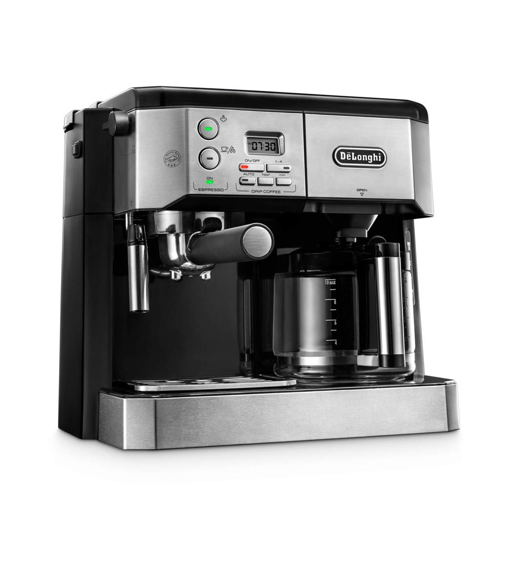 61wu1spnzDL - De'Longhi Combi Coffee Machine, Traditional Pump Espresso and Filter Coffee, 1.25 Liter, BCO431.S, Black and Stainless…