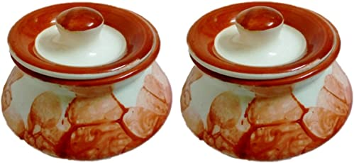 Classic Decorative आचर हाडी (Achar Handi) Set of 2