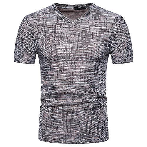 80d8cde6a99 Subfamily T-Shirt da Uomo a Manica Corta Estiva Tinta Unita Grembiule Tinta  Unita Canottiera
