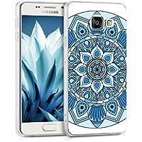 kwmobile Coque pour Samsung Galaxy A3 (2016) – En silicone TPU coque protectrice pour portables – Étui translucide en bleu bleu clair blanc