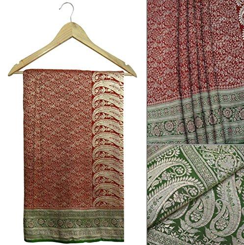 jahrgang-sari-100-reines-gold-zari-banarasi-seide-grn-polsterung-handwerk-stoff