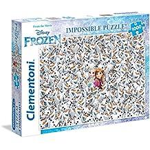 Clementoni 39360 - Impossible Puzzle Frozen, 1000 Pezzi